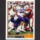 1991 Upper Deck Football #022 Greg Lewis RC - Denver Broncos