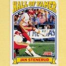1991 Score Football #670 Jan Stenerud HOF - Kansas City Chiefs