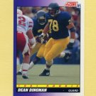1991 Score Football #614 Dean Dingman - Pittsburgh Steelers