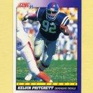 1991 Score Football #599 Kelvin Pritchett RC - Detroit Lions