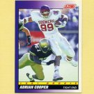 1991 Score Football #587 Adrian Cooper RC - Pittsburgh Steelers