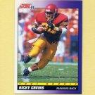 1991 Score Football #582 Ricky Ervins RC - Washington Redskins