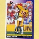 1991 Score Football #566 Paul Justin RC - Chicago Bears