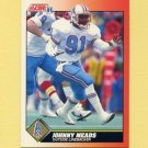 1991 Score Football #449 Johnny Meads - Houston Oilers
