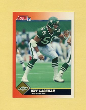 1991 Score Football #444 Jeff Lageman - New York Jets