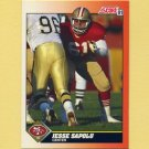 1991 Score Football #434 Jesse Sapolu - San Francisco 49ers