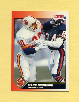 1991 Score Football #391 Mark Robinson - Tampa Bay Buccaneers