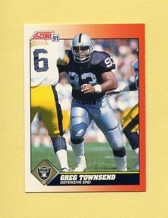 1991 Score Football #361 Greg Townsend - Los Angeles Raiders