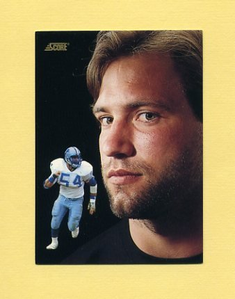 1991 Score Football #341 Chris Spielman DT - Detroit Lions