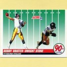 1991 Score Football #325 Dwight Stone / Bubby Brister - Pittsburgh Steelers