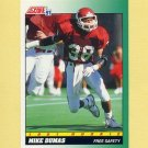 1991 Score Football #314 Mike Dumas RC - Houston Oilers