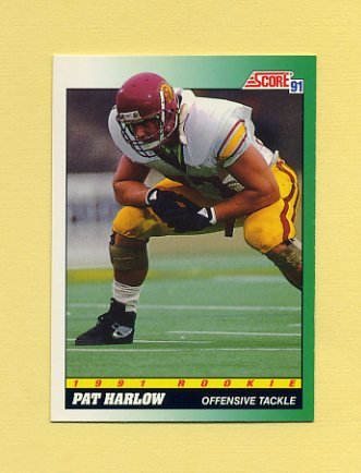1991 Score Football #312 Pat Harlow RC - New England Patriots