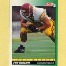 1991 Score Football #312 Pat Harlow RC - New England Patriots
