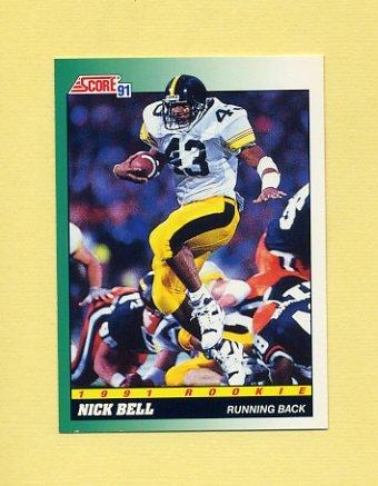 1991 Score Football #311 Nick Bell RC - Los Angeles Raiders