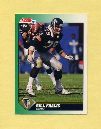 1991 Score Football #297 Bill Fralic - Atlanta Falcons