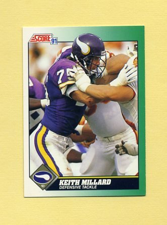 1991 Score Football #295 Keith Millard - Minnesota Vikings