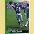 1991 Score Football #289 Brian Blades - Seattle Seahawks