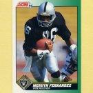 1991 Score Football #286 Mervyn Fernandez - Los Angeles Raiders