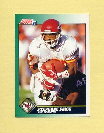 1991 Score Football #283 Stephone Paige - Kansas City Chiefs