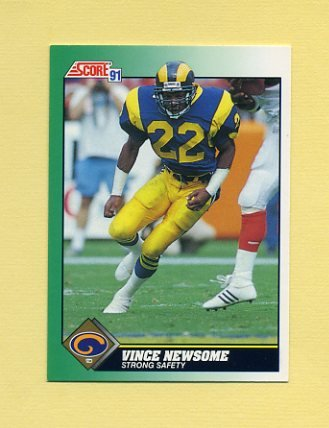 1991 Score Football #259 Vince Newsome - Los Angeles Rams