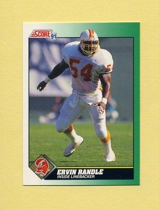 1991 Score Football #254 Ervin Randle - Tampa Bay Buccaneers