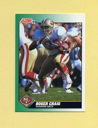1991 Score Football #222 Roger Craig - San Francisco 49ers