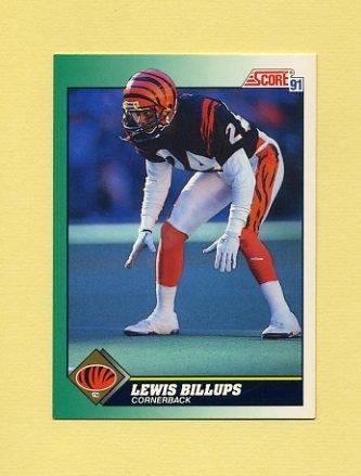 1991 Score Football #221 Lewis Billups - Cincinnati Bengals