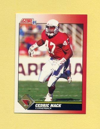 1991 Score Football #218 Cedric Mack - Phoenix Cardinals