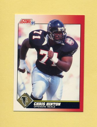 1991 Score Football #202 Chris Hinton - Atlanta Falcons