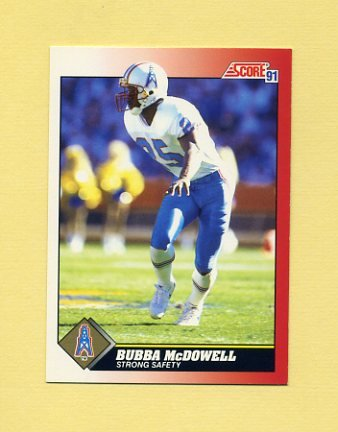 1991 Score Football #198 Bubba McDowell - Houston Oilers