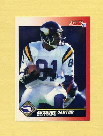 1991 Score Football #182 Anthony Carter - Minnesota Vikings