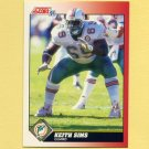 1991 Score Football #169 Keith Sims - Miami Dolphins