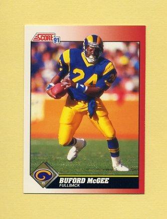 1991 Score Football #164 Buford McGee - Los Angeles Rams
