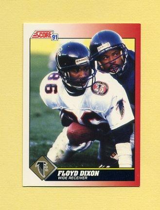 1991 Score Football #163 Floyd Dixon - Atlanta Falcons