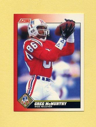 1991 Score Football #161 Greg McMurtry - New England Patriots