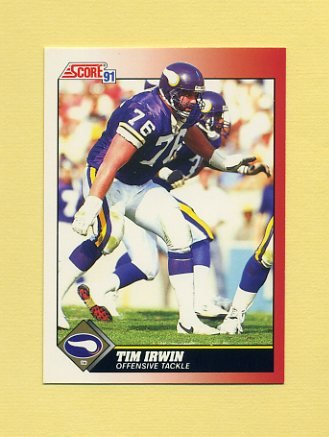 1991 Score Football #145 Tim Irwin - Minnesota Vikings