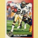 1991 Score Football #138 Dalton Hilliard - New Orleans Saints