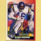 1991 Score Football #123 Alfred Anderson - Minnesota Vikings
