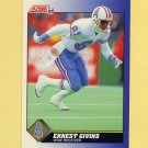 1991 Score Football #081 Ernest Givins - Houston Oilers