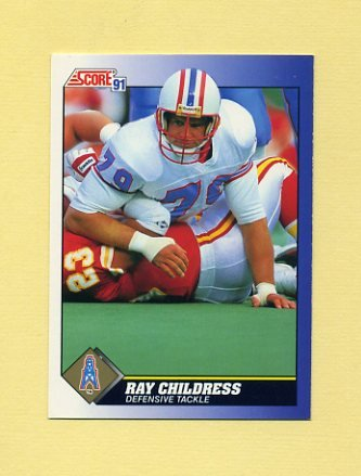 1991 Score Football #079 Ray Childress - Houston Oilers