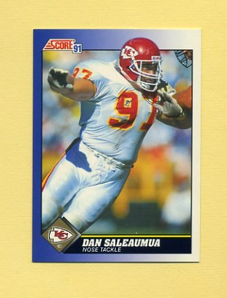 1991 Score Football #078 Dan Saleaumua - Kansas City Chiefs
