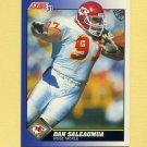 1991 Score Football #078 Dan Saleaumua - Kansas City Chiefs