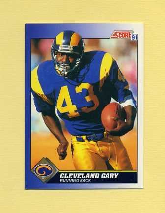 1991 Score Football #064 Cleveland Gary - Los Angeles Rams