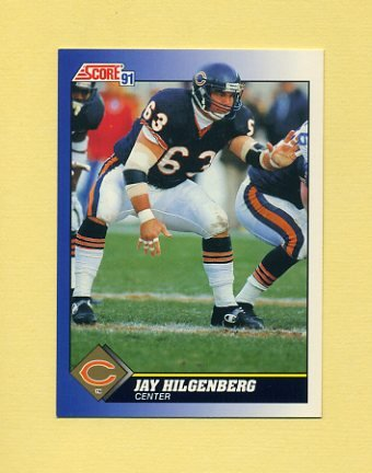 1991 Score Football #063 Jay Hilgenberg - Chicago Bears