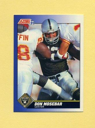 1991 Score Football #062 Don Mosebar - Los Angeles Raiders
