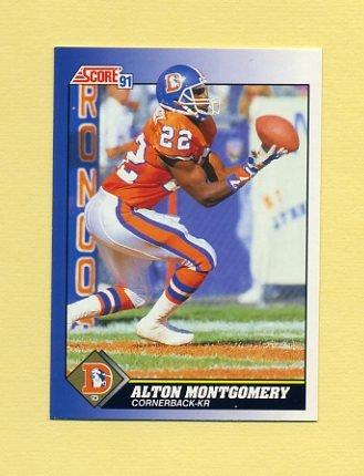 1991 Score Football #022 Alton Montgomery - Denver Broncos