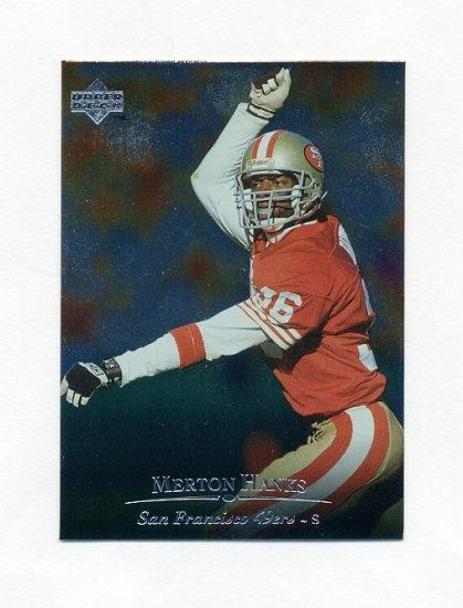 1996 Upper Deck Silver Football #205 Merton Hanks - San Francisco 49ers