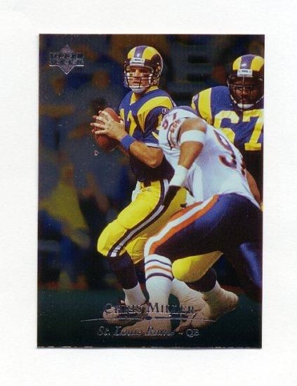 1996 Upper Deck Silver Football #088 Chris Miller - St. Louis Rams