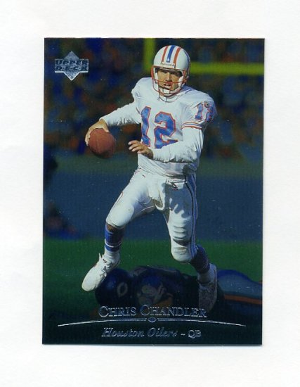 1996 Upper Deck Silver Football #072 Chris Chandler - Houston Oilers