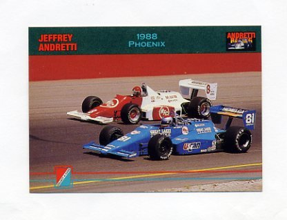 1992 Collect-A-Card Andretti Racing #95 Jeff Andretti's Car